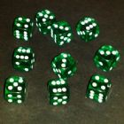 12mm Gem Spot Dice - Green
